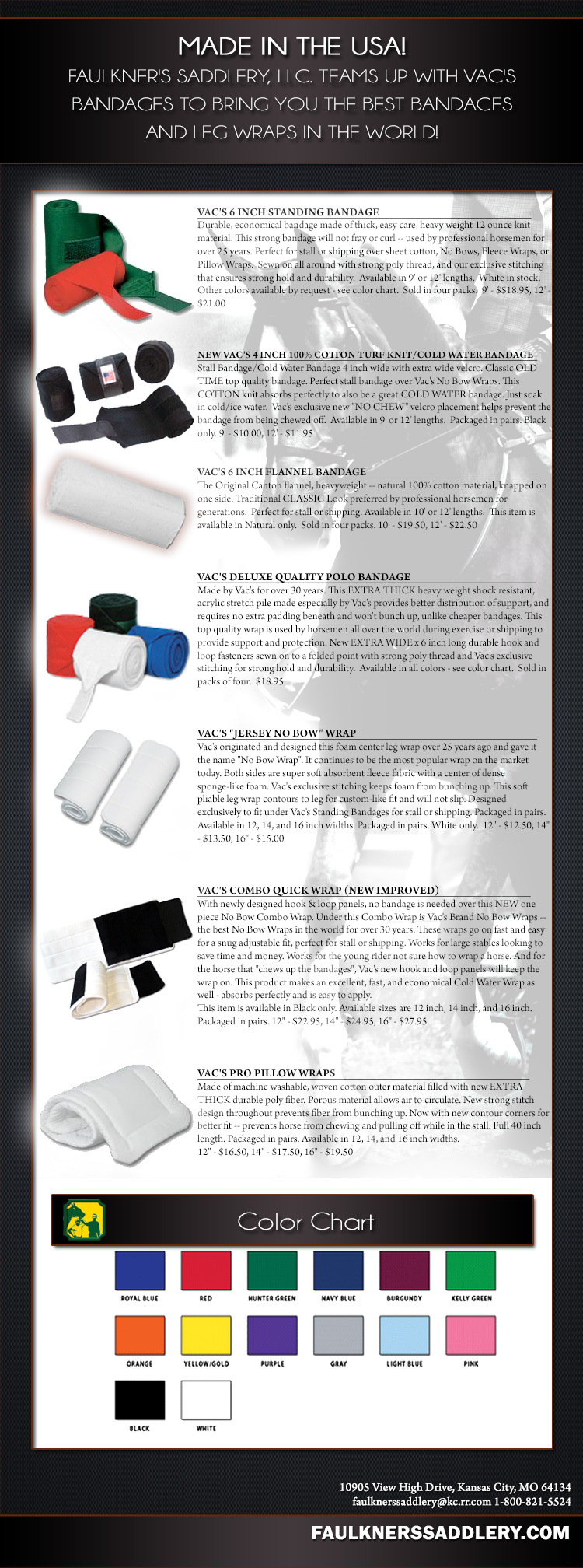 VAC's Leg Wraps & Bandages - Made in USA - The best bandages in the world!