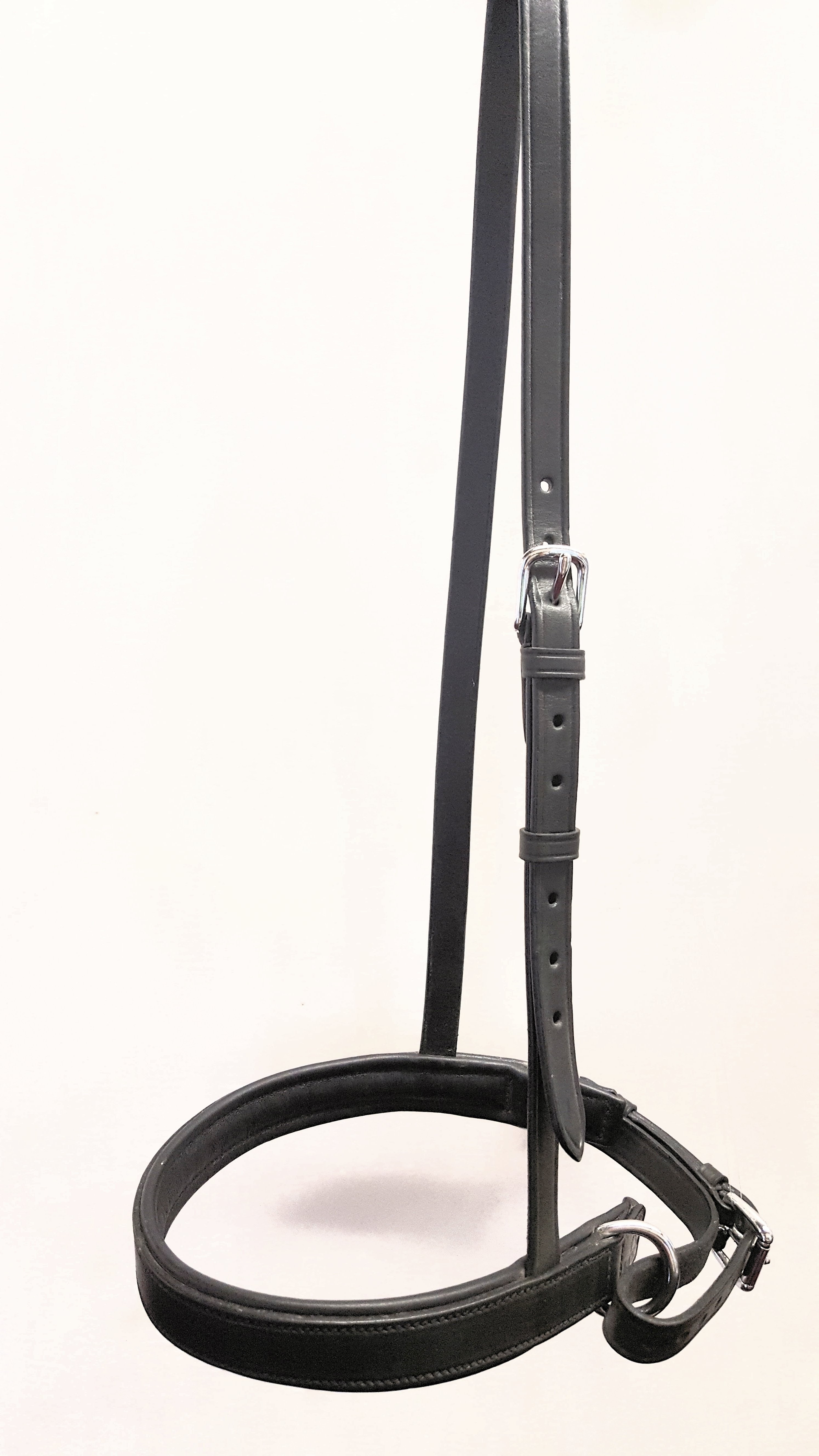 BLACK LEATHER PADDED NOSE BAND CAVESSON