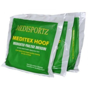 MEDISPORTZ MEDITEX HOOF  POULTICE DRESSING PKG OF 3