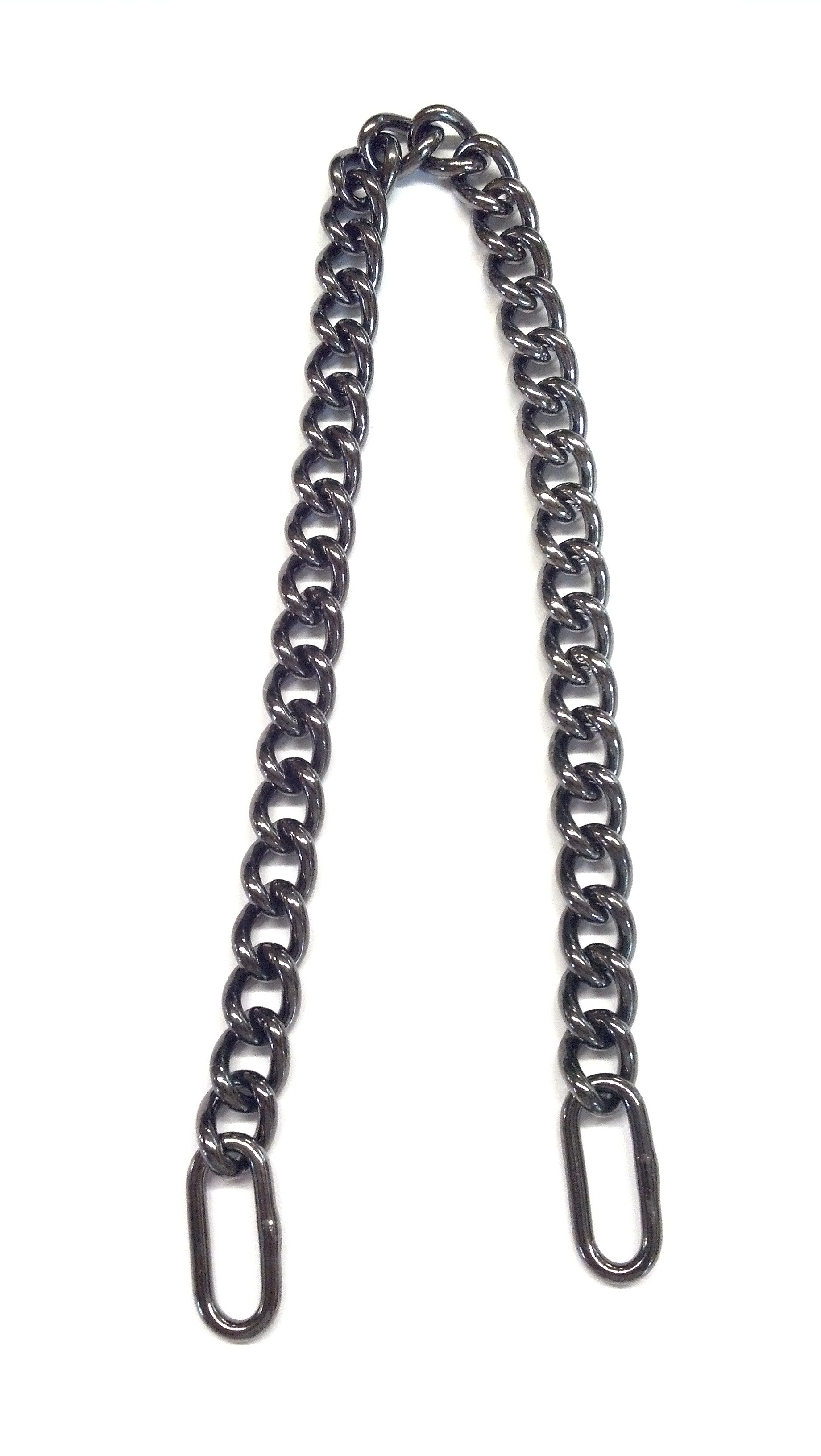 4.0 World's Finest Beautiful Black Chrome Plated Solid Brass Show Chain