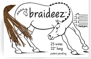 "Braideez Braiding Wire 25 Wires at 32"" long"