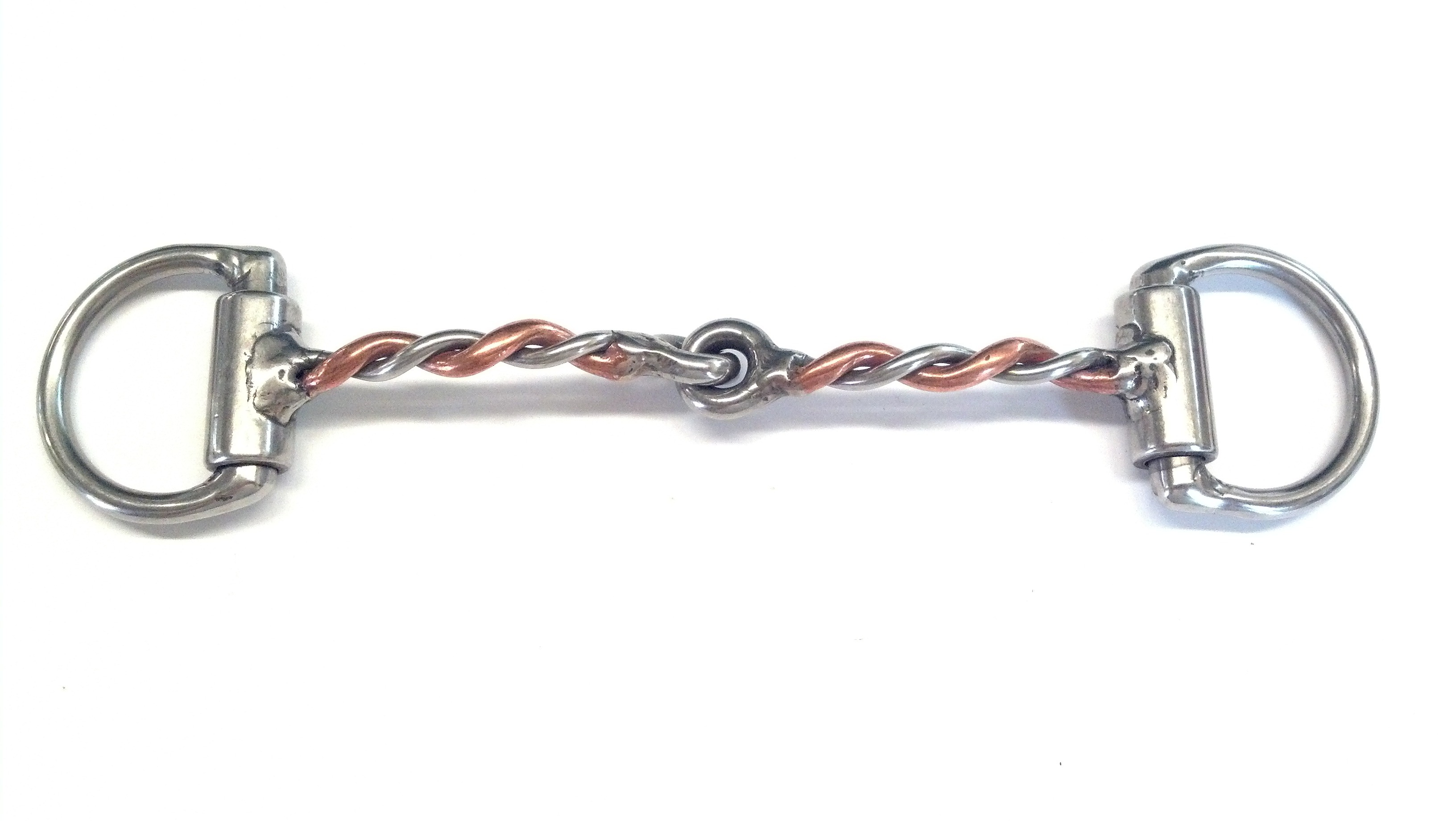 """1/4"""" Copper & Stainless Steel Twisted Wire Snaffle"""