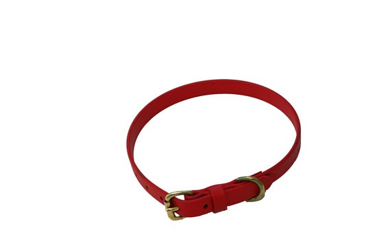 """Dog Collar - 3/4"""" wide Red"""