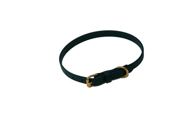 """Dog Collar  3/4"""" wide- Hunter Green"""
