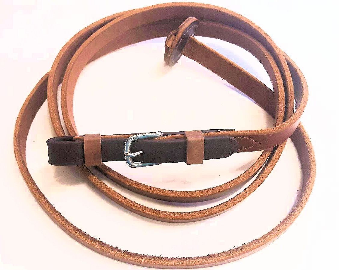 "Brown Leather Lead 3/4"" Wide"