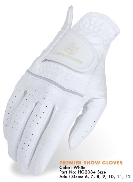 Heritage Premier Show Gloves in White, Brown or Black