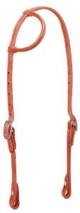 Leather Rolled Sliding One-Ear Headstall