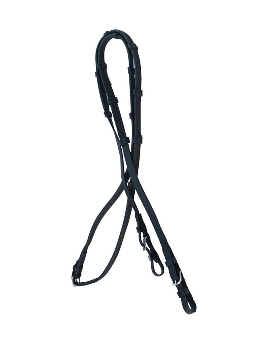 "Super Grip English Reins with Buckles & Knobs.  5/8"" Wide"