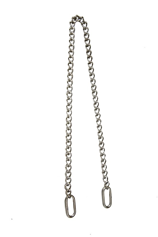 3.0 World's Finest  Silver-Plated Solid Brass Show Chain