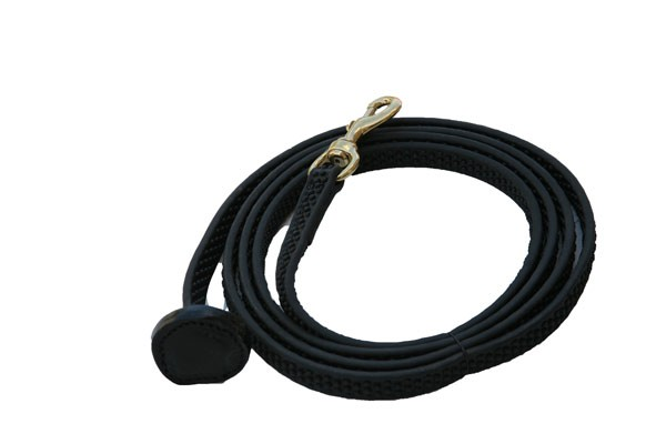"Super Grip Lead with Bolt Snap.   5/8"" Wide Available in Black or Brown."