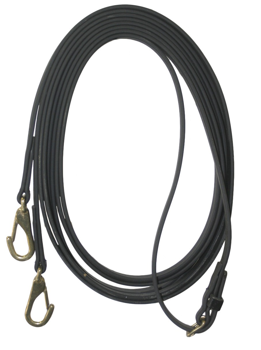 Beta Draw Reins with Center Buckle & Spring Snaps.  Available in many colors