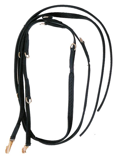 7' Split  Super Grip Beta German Martingale Reins