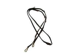 Super grip martingale reins with brass hardware