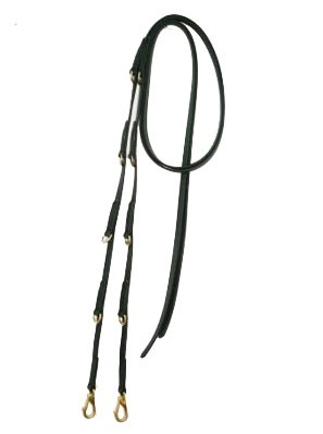 German Martingale Split Beta Reins & Solid Brass Hardware.  Available in many colors