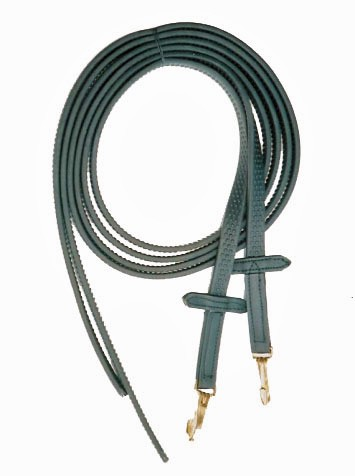 7' Split Super Grip Reins with Spring Snaps & Martingale Stops.  Black or  Brown.