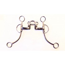 "7/16"" Bar 2 1/2"" High Port With ears and Center bar Correction C-Shank"