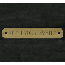 Brass Engraved Halter Plate
