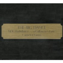 Brass Engraved Stall Plate