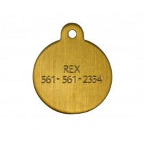 Brass Circle Engraved Bridle or Blanket Tag - Small