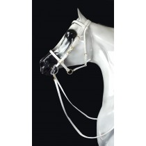Halter Bridle White Beta Padded in Solid Brass