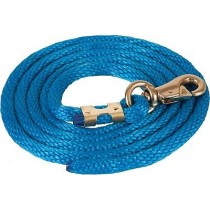 Colored Basic Poly Lead Rope w/Bull Snap
