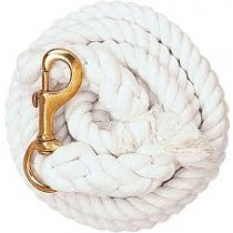 "3/4"" x 10' Basic Cotton Lead Rope w/Bull or Trigger Snap"