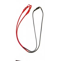 "English Reins - 24"" Smooth Colored Beta, Super Grip at Hands with Buckles"