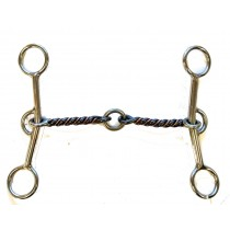 "3/8"" Sweet & Sour Twisted Wire Snaffle with Center Ring"