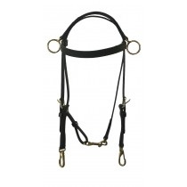 Beta Training Bridle with Side Check Rings with Snaps or Buckles