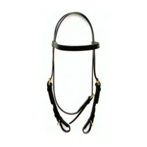 Beta Training Headstall - Buckle Ends-Black or Brown