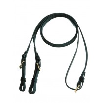 Beta English Training Reins with Buckles.  Black or Brown